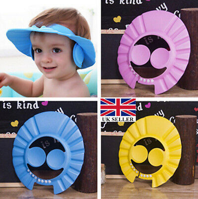 Soft Toddler Baby Bath Hat Shower Shampoo Visor Hats Wash Hair Shield Cap UK