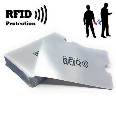 Hot 10× Credit Card Protector Secure Sleeve RFID Blocking ID Holder Foil Shield