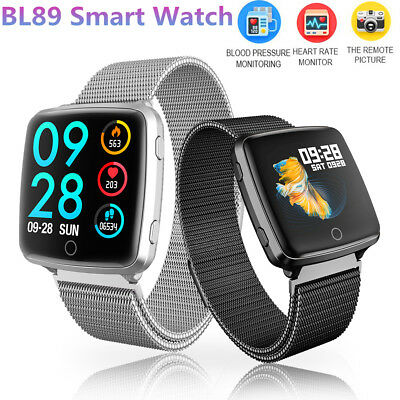 BL89 Smart Watch Men Smartwatch Reloj Heart Rate Monitor ok for Fitbit Versa
