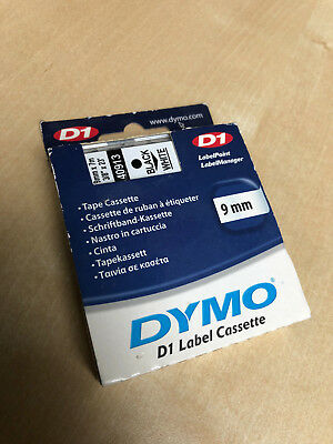 Dymo D1 40913 Tape 9mm x 7m Black on White