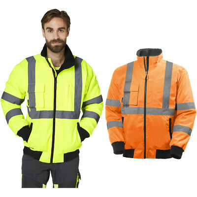 Helly Hansen Mens Alta Pilot Hi Vis Waterproof Workwear Jacket