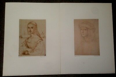 LOT OF 2 LARGE 16x12 ART GROUP PRINTS BY RAPHAEL STUDIES FOR PORTRAITS