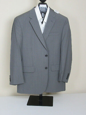 $598 new Jos A Bank Executive grey stripe pattern suit 41 R 35 W regular fit