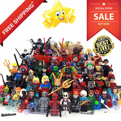 Lego Marvel Thanos Minifigures DC Building Blocks Venom Carnage Deadpool Aquaman