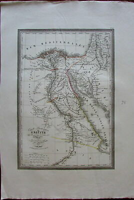 Egypt Africa Nile river 1825 Vivien large detailed fine old vintage antique map