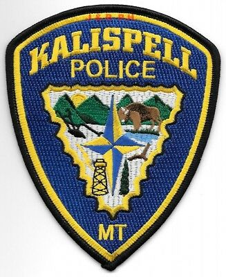 "Kalispell, Montana  (4"" x 5"" size) shoulder police patch (fire)"