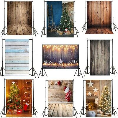 Christmas Vinyl Studio Muslin Photography Backdrops Photo Stand Background Props