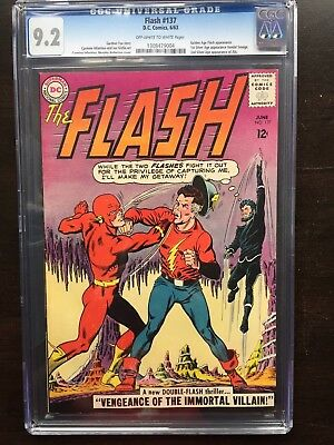 FLASH #137 CGC NM- 9.2; OW-W; GA Flash app.; 1st SA app. Justice Society!