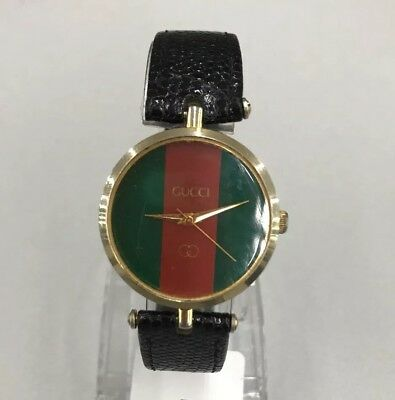 a4fac290b13 VINTAGE 1980S GUCCI Ladies Wristwatch Watch Green Red -  120.00 ...