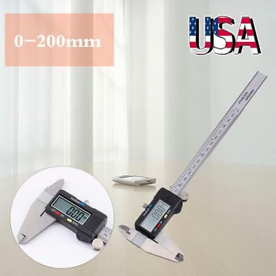 """8"""" 200mm Stainless Steel Digital Vernier Electronic Caliper Micrometer Guage LCD"""