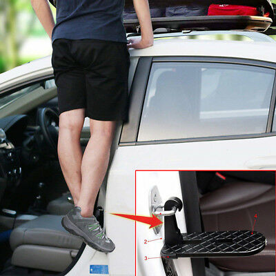 Folding Car Door Latch Hook Step Mini Foot Pedal Ladder for  SUV Jeep Truck Roof