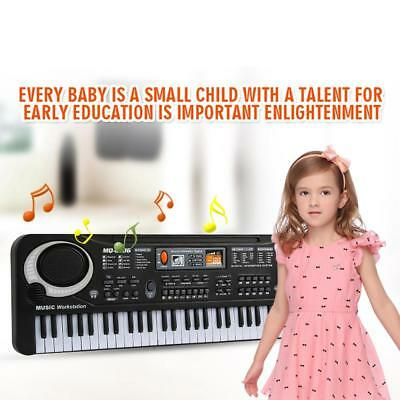 Quality 61 Key Digital Electronic Keyboard & Microphone Electric LED Piano BN