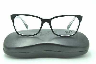 c4a021f2c5d0e Ray Ban RB 5362 Eyeglasses 2034 Black on Clear Frames 54mm + Case NEW!