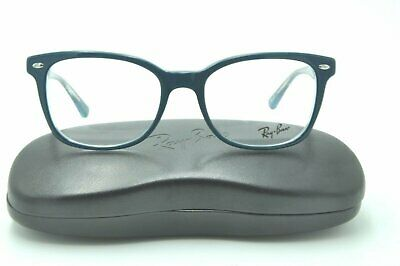 d87b9a0ca40 Ray Ban RB 5285 Eyeglasses 5763 Turquoise on Transparent Frames 53mm NEW!