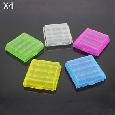 10 Pcs Box Hard Plastic Case Cover Holder AA / AAA Battery Storage Rechargeable
