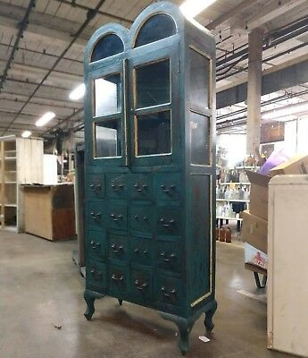 Rounded Top Apothecary Display Cabinet