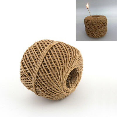 200 Feet Organic Hemp Wick Natural Beeswax Coating Candle Wick Making Crafts K