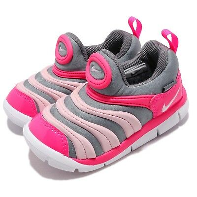 Nike Dynamo Free TD Grey Pink White Toddler Infant Baby Shoes Sneaker 343938 -019 69e1f2fdc