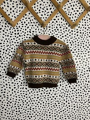 Vintage Sweater Baby Togs Nordic 70s 12 Months