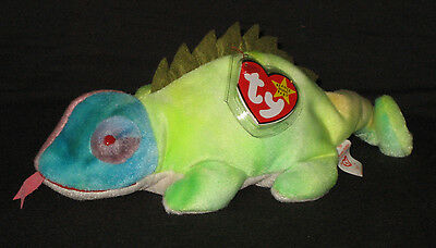 f8b42da7b5f TY IGGY the TY-DYE IGUANA BEANIE BABY with SPIKES AND TONGUE - MINT TAGS