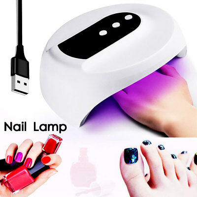 USB 36W LED UV Nail Lamp Light Gel Polish Dryer Manicure Art Curing AU