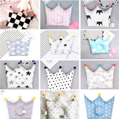 Newborn Baby Infant Crown Pillow Nursery Cute Pad Prevent Flat Head Sleep Soft