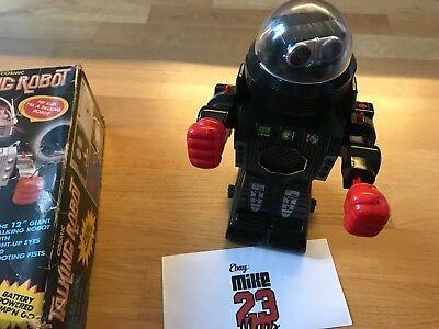 Vintage Toy Robot Cosmic Talking Robot Kamco 12'' Made In China - Working!
