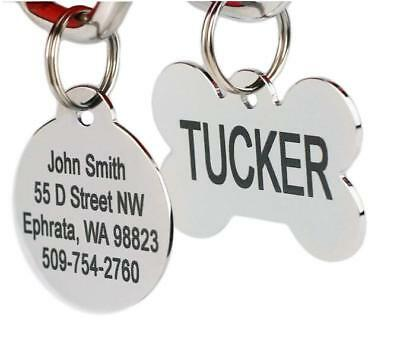 Stainless Steel Pet Id Tags Personalized Dog Tags & Cat Tags Engraved Front & Ba