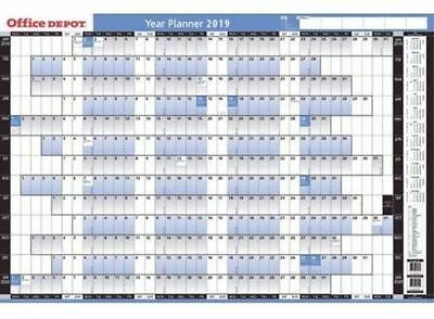 Office Depot 12 Month Wall Year Planners Mounted 2019. 61 x 91 cm