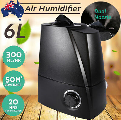 6L Air Humidifier Ultrasonic Cool Mist Steam Nebuliser Aroma Diffuser AUpost