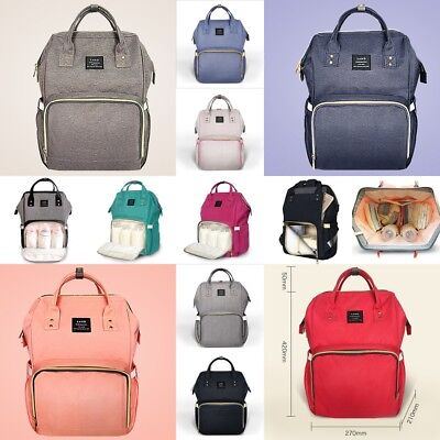 UK LAND Mummy Backpack Changing Bag Large Multifunctional Baby Nappy Diaper Bags