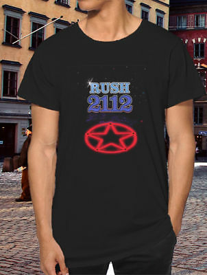 Nwe T-shirt 2RUSH 2112 Tour 1976 short sleeve Casual Street Apparel tee
