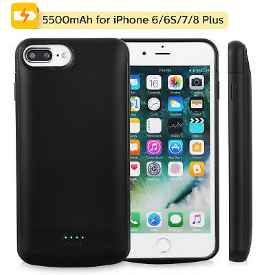 External Power Bank Battery Case Charger Charging Cover For iPhone 6 7 8 Plus UK