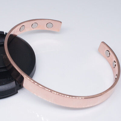 Magnetic Copper Bracelet Healing Bio Therapy Arthritis Pain Relief Bangle Cuff