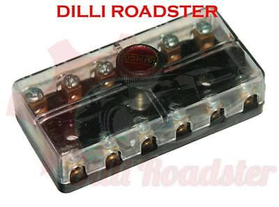 AUS 12 Volt Fuse Box/Holder 6 Poles/Way For Jeeps And Tractors