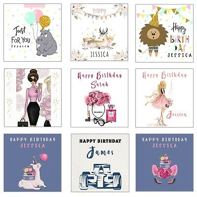 Personalised Birthday Cards - For Daughter Sister Friend Boys Girl Children.....