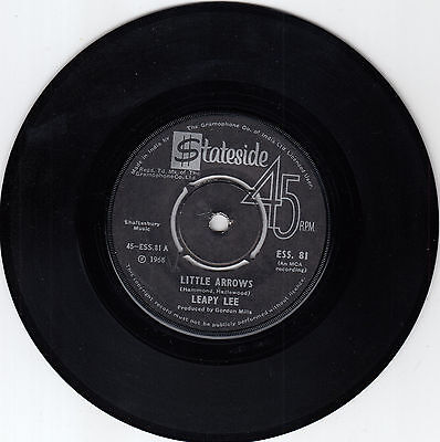 LEAPY LEE LITTLE ARROWS RARE RECORD INDIA 7' PS 45 rpm