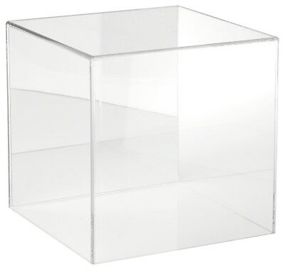 """Plymor Brand Clear Acrylic Display Case with No Base (Mirrored), 10"""" x 10"""" x 10"""""""