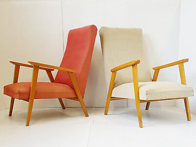 Pair Of Armchairs Years 50 Vintage 50's Feet Compass 50S Rockabilly Years 50