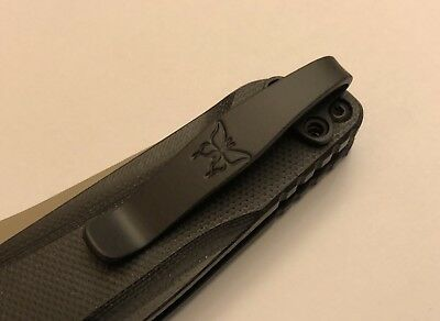 Matte Black Titanium Deep Carry Pocket Clip Made For Benchmade Osborne 940 943