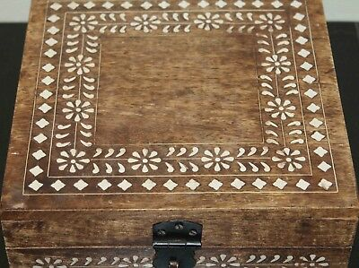 Chinese Wooden Box with Shell Inlay