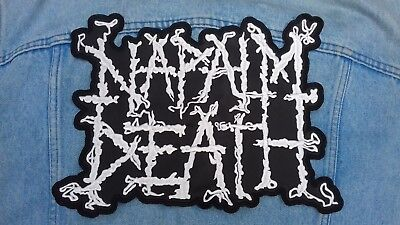Napalm Death embroidered logo back patch death metal morbid angel carcass