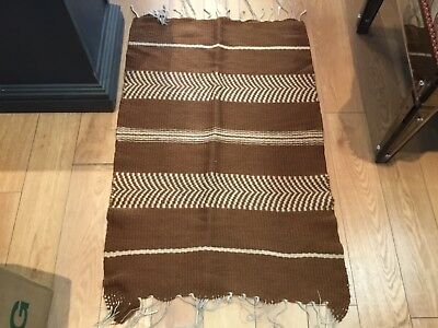 Antique Increadable Brown & Begie Navajo American Indian Rug Must See No Reserve