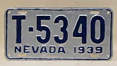 1939 NEVADA License Plate  repaint 0