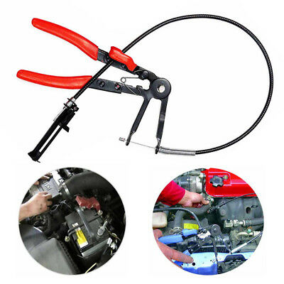 """24"""" inch Long Reach Flexible Hose Clamp Pliers Locking Tool Fuel Oil Water Hose"""