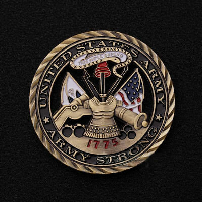 1775 U.S. Army Core Values Military Commemorative Challenge Coin Hollowed Out
