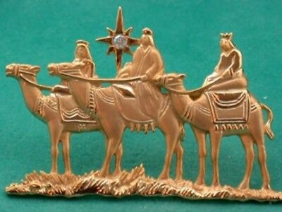 3 Wisemen Gold Tone Brooch Pin Jonette Original Ltd!