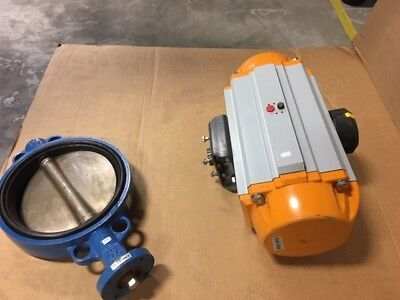"Butterfly Valve, 10""  FNW w/ Spring Return Air Act. EDPM   K830447"