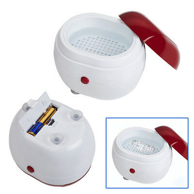New Round Cleaning Ultrasonic Cleaner For Jewellery Watch Gold Silver Necklace