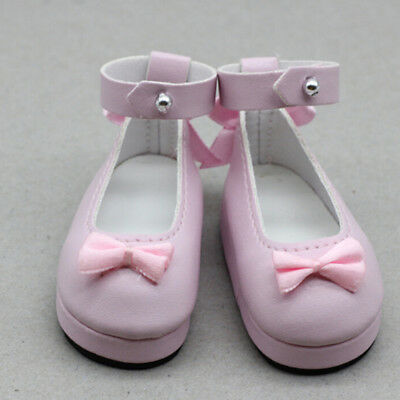 1 Pair 6cm pink doll princess shoes for  dolls 1/6 dolls Accessories CN